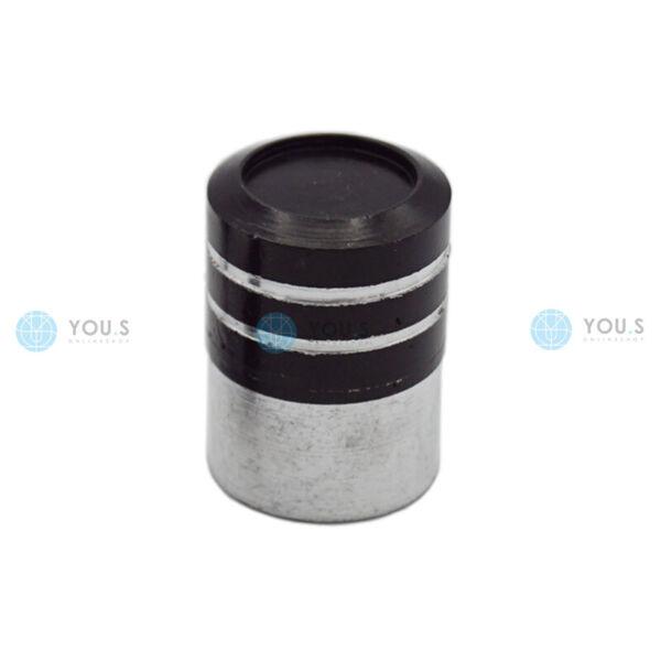 1 Pezzi You. S Cilindro In Alluminio Valvola Cappuccio Argento-nero Guarnizione Per Auto Pkw Lkw