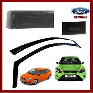 Genuine Ford Focus MK2 RS ST225 3 Sport Door Climair Wind Deflectors. New.