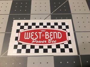 West-Bend-580-Vintage-Engine-Decal-Go-Kart-Mini-Bike