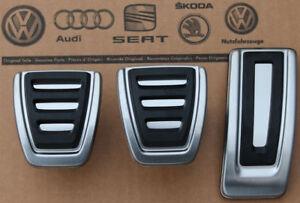 VW-Polo-5-6-ab-2015-original-Pedalset-R-Line-Pedale-Pedalkappen-pedal-pads-caps