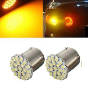 Ampoule-LED-BA15S-1156-P21W-1073-1206-lampe-baionnete-22-SMD-orange-ESS-TECH