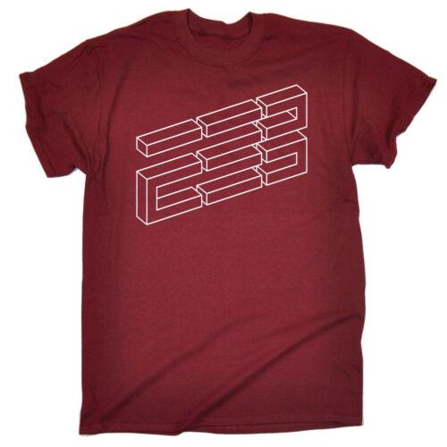 Blocco Illusione Da Uomo T-shirt Tee Regalo Di Compleanno Optic Ottica intelligente Unico Divertente