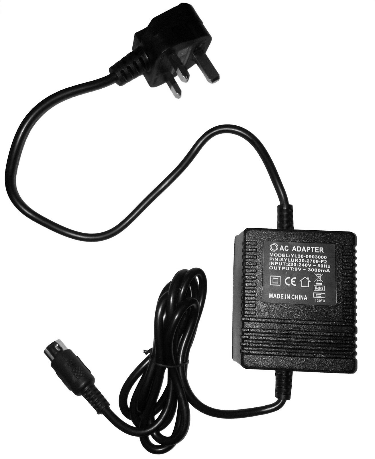 DIGITECH PS940 POWER SUPPLY REPLACEMENT ADAPTER 4 PIN DIN DIN DIN UK 9V 220V 230V 240V 1370b0