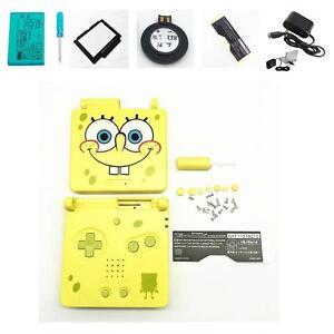 NEW-GBA-SP-Game-Boy-Advance-SP-Replacement-Housing-Shell-Screen-Lens-Spongebob