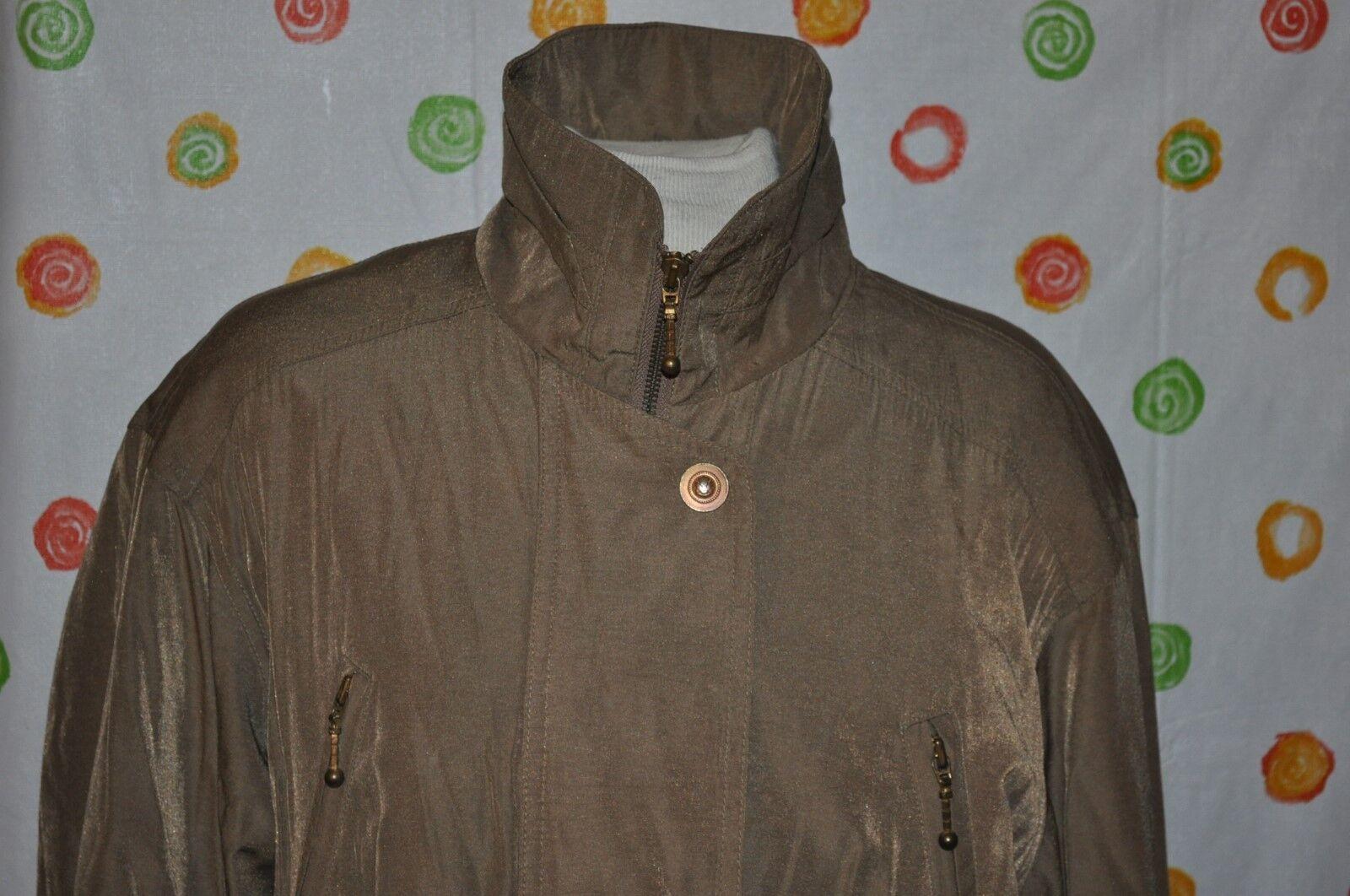 GALLERY brown brown brown cinch car windbreaker COAT WOMEN Medium 9b0b38