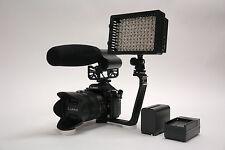 Pro VM XL-12L video mic light F970 for Canon 1D X T5 T5i SL1 60Da 5D Mark II T2i