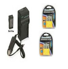 Two 2 Batteries + Charger for Canon HFR20 HFR21 HFR26 HF R28 HF R200 HF R206