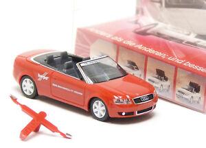 Herpa-audi-a4-cabrio-cabriolet-juguetes-feria-2002-nuremberg-rojo-1-87-h0