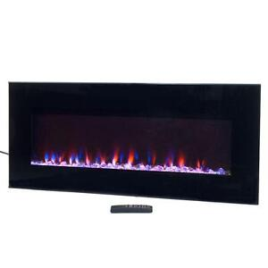 northwest 36 in led fire ice electric fireplace w