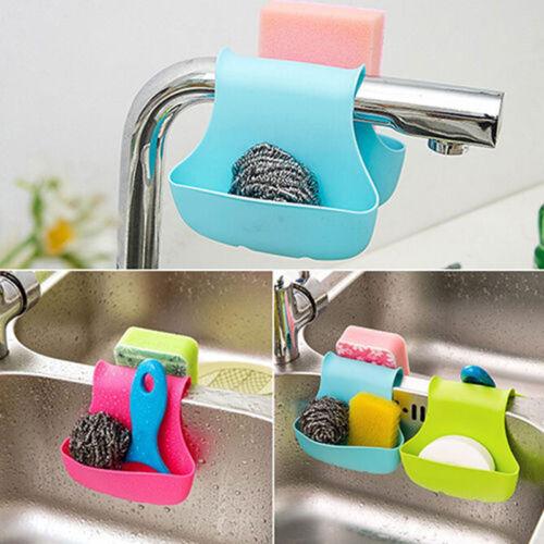 Kitchen Multifunctional Saddle Strainer Double Sink Sponge Rack Holder Organizer