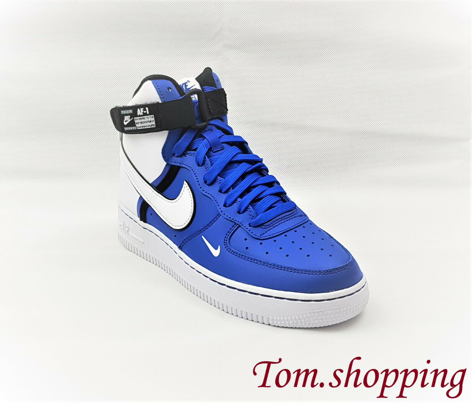 Nike Air Force 1 High LV8 2 CI2164 400 shoes white blue Size UK 5 EUR 38
