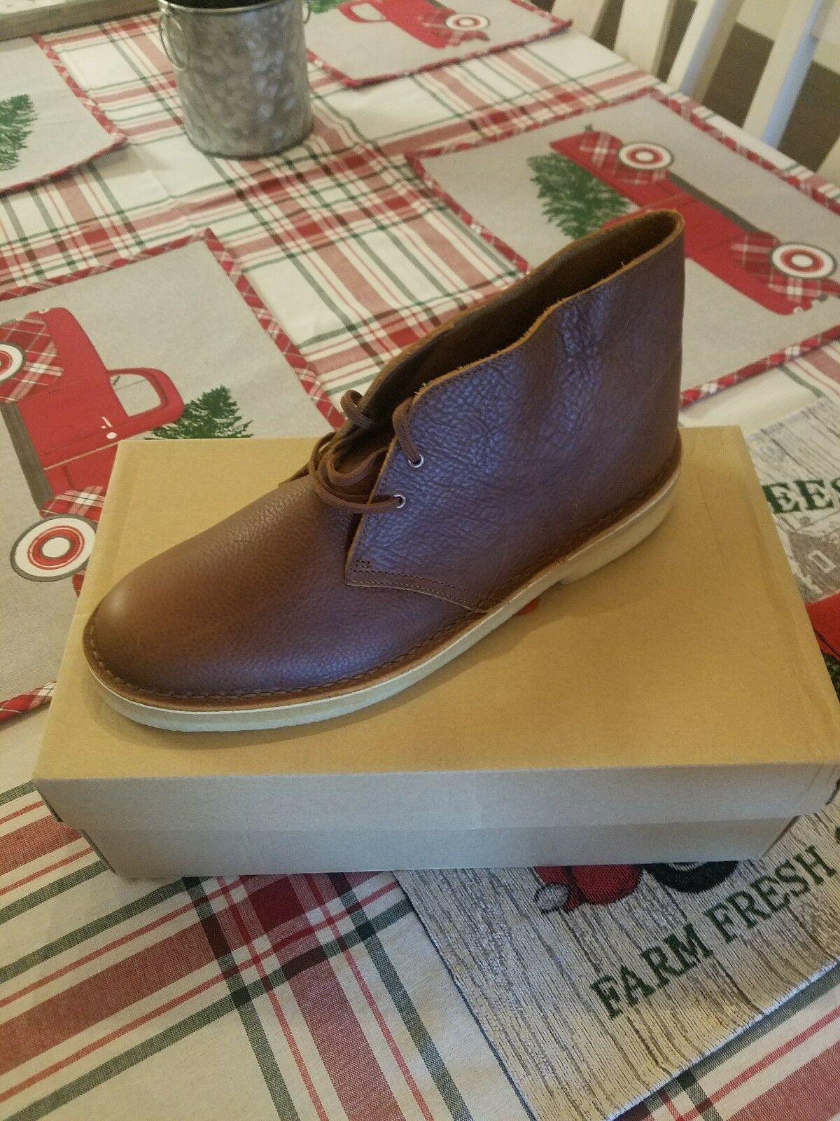 Men's Clarks Size 11.5 NEW Originals Desert Boots Tan Tumbled Leather 261 25549