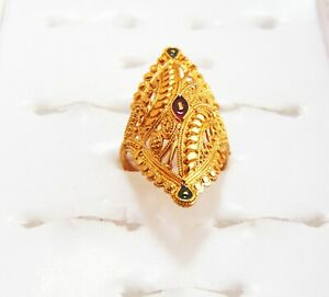 Indian New Wedding Ring Gold Plated Finger Rings Designer Women Fashion Jewelry Ebay