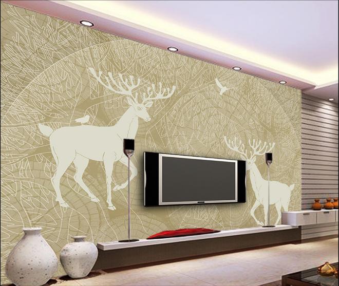 3D Weiß Deer 126 Paper Wall Print Wall Decal Wall Deco Indoor Murals