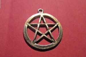 Six pewter wiccan pentagram pentacle pendants one inch ebay image is loading six pewter wiccan pentagram pentacle pendants one inch aloadofball Gallery
