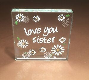 Image Is Loading Spaceform Love You Sister Glass Token Birthday Gift