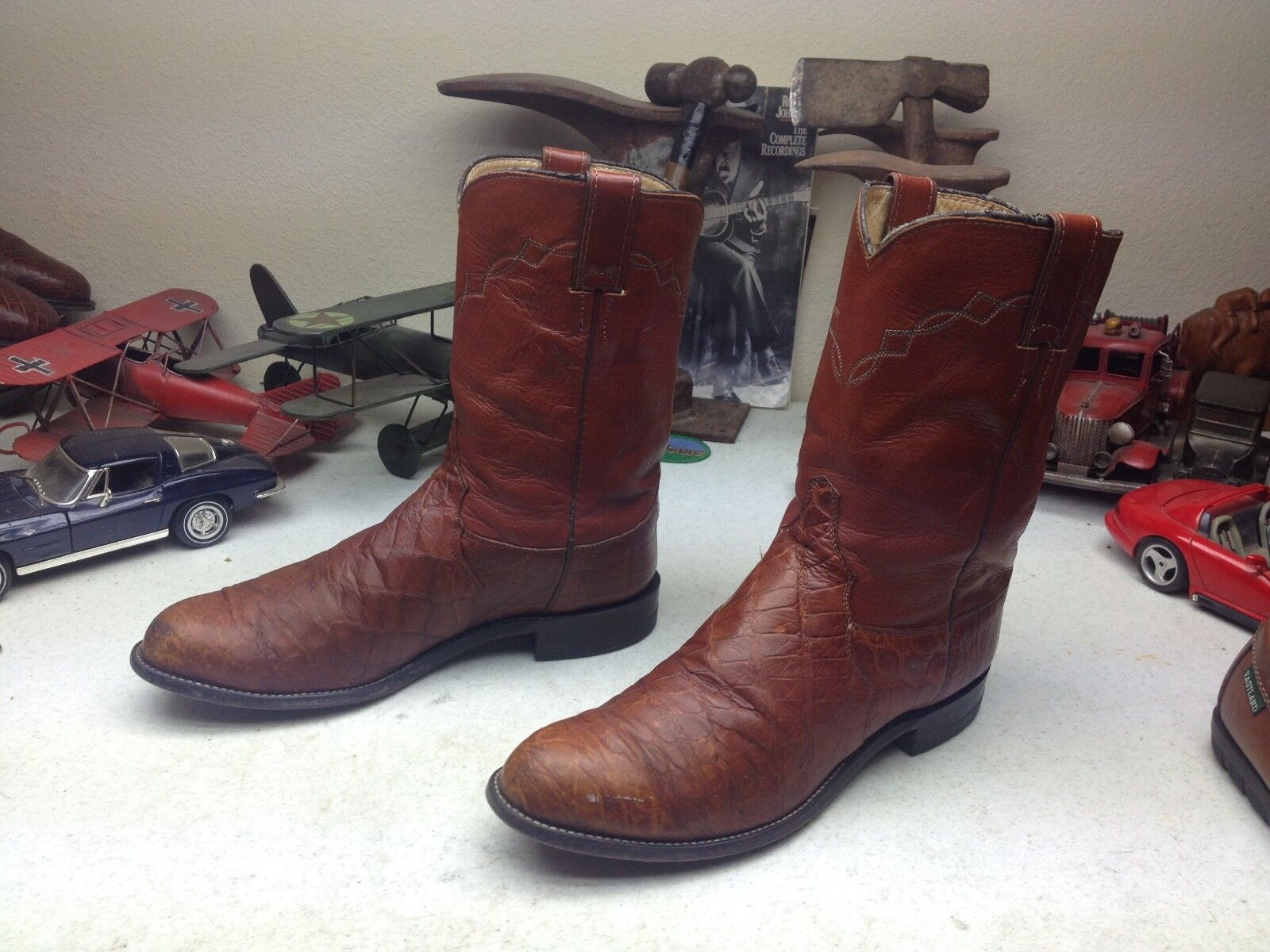 90222 JUSTIN DISTRESSED LEATHER WESTERN COWBOY TRAIL BOSS BOSS TRAIL RANCH WORK BOOTS 9 D b4ea3a