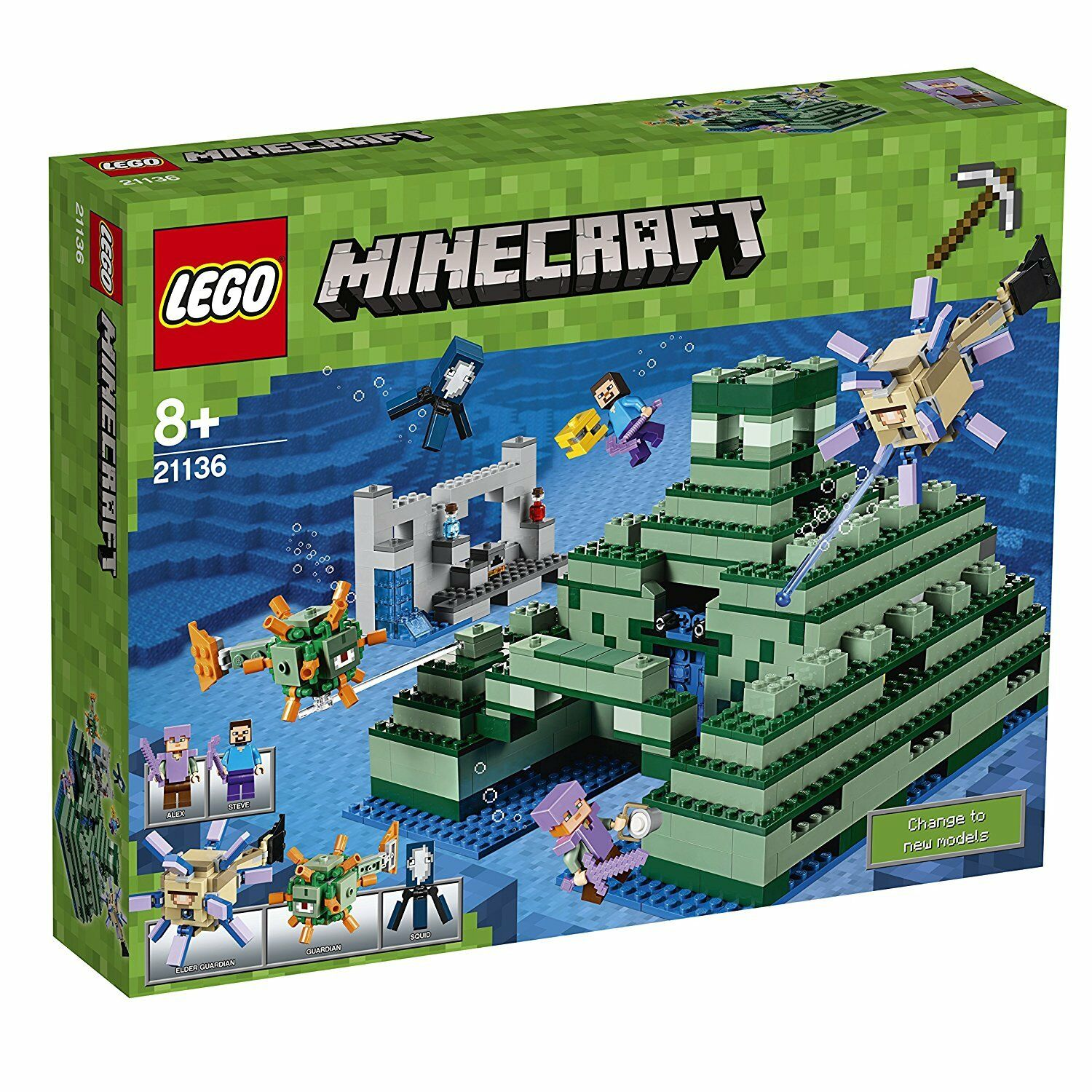NEW AND SEALED LEGO 21136 MINECRAFT THE OCEAN MONUMENT