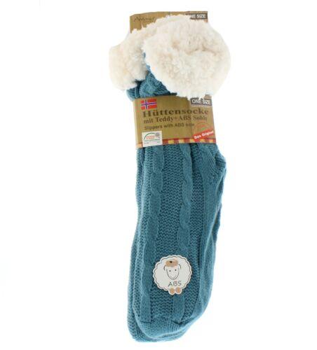 Super suave y fluffly Zapatillas Calcetines con suela antideslizante cable de punto