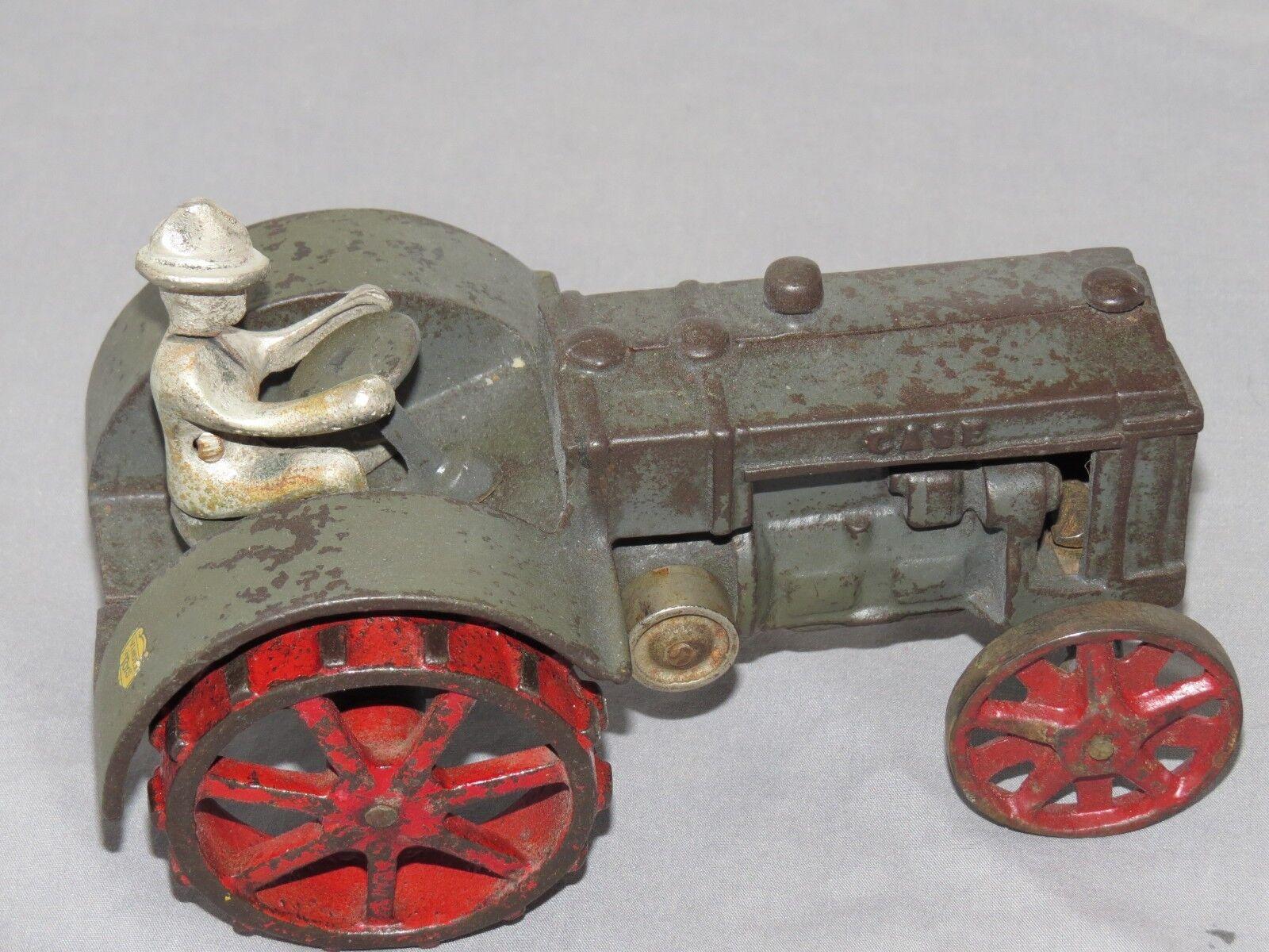 Vintage JI CASE Toy Tractor VINDEX Toys Original 1 16 1920's Cast Iron