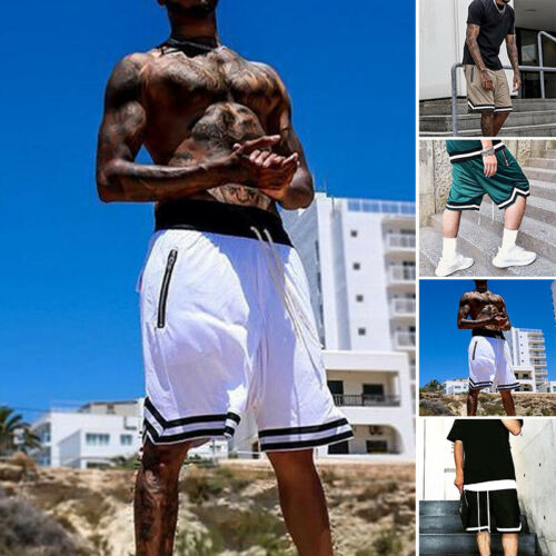 Shorts Summer Basketball With Pockets Fitness Sports Casual Activewear