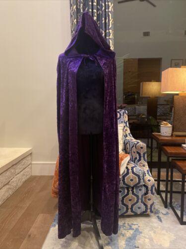 ADULT Halloween Velvet Cloak Cape Hooded Medieval