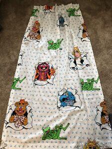 Rare-Vintage-Muppets-Window-Curtain-Gonzo-Miss-Piggy-Kermit-Fozzy-Bibb-Co