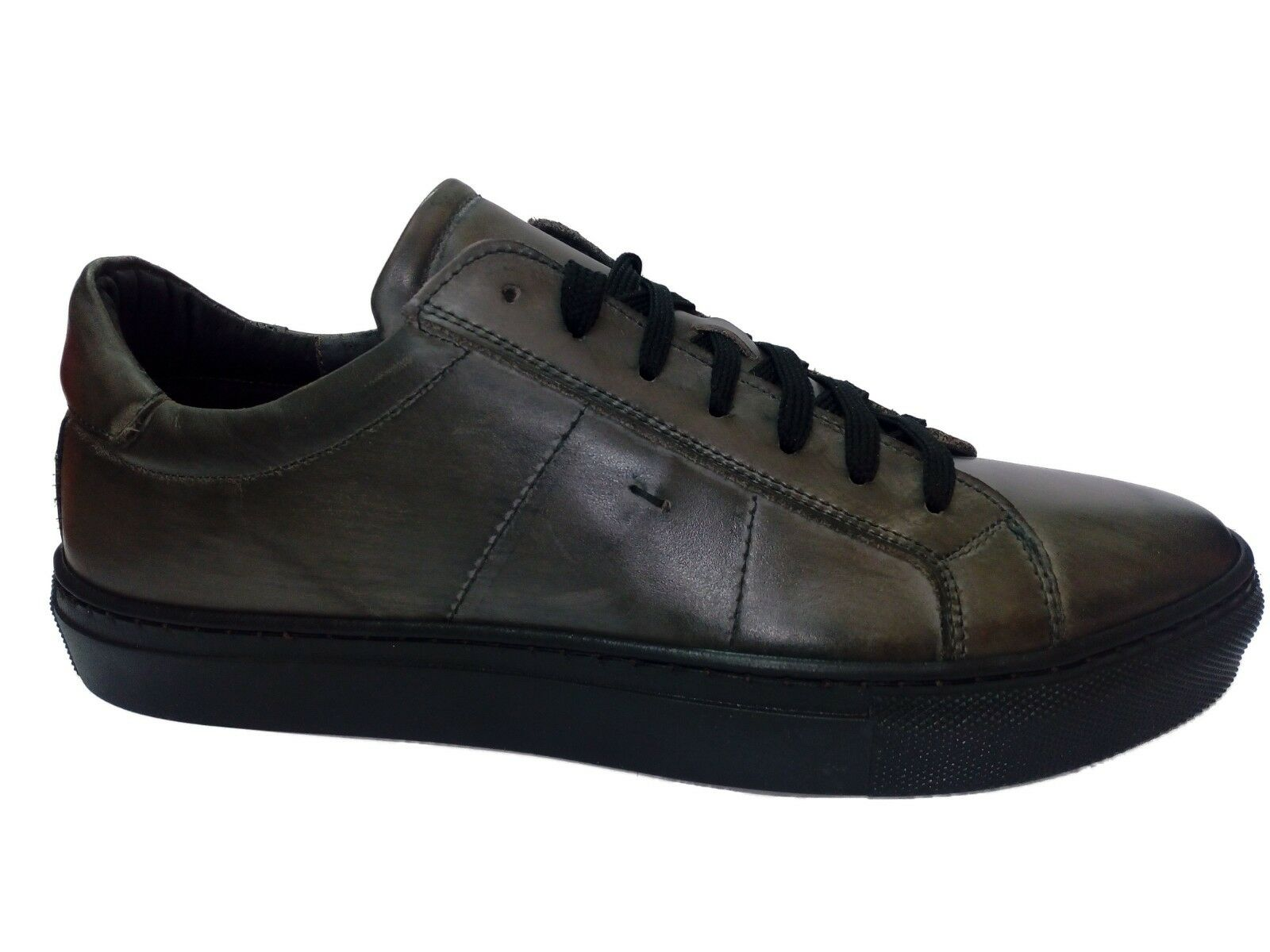 SCARPE UOMO WEENCHESTER  SNEAKERS BASSA in PELLE GRIGIO MADE in ITALY TG 40