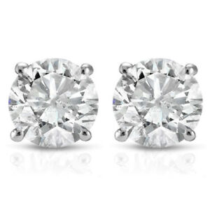 1ct-Diamond-Studs-14K-White-Gold