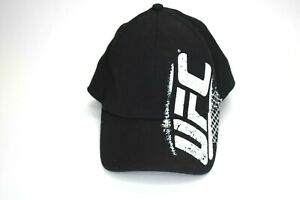 UFC-MMA-Black-And-White-Octagon-Fighters-Cap-Hat-With-Flex-Fit