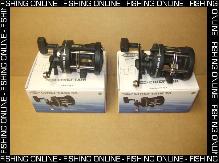 2 x FLADEN BOAT FISHING REEL MULTIPLIER REEL FISHING - STAR DRAG - LEVEL WIND - CHIEFTAIN 30 56db4e