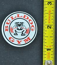 BULLDOG GYM Official Logo Round Sticker Bodybuilding Crossfit Powerlifting