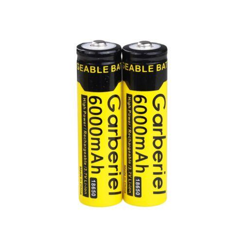 Lot 6000mAh 18650 Battery Li-ion 3.7V Rechargeable Batteries for LED Flashlight