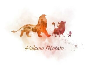 Art Print The Lion King Hakuna Matata Quote Nursery Disney Wall Art Gift Ebay