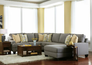 Details About Modern Living Room Couch Set NEW Gray Fabric 4 Pieces  Sectional Sofa Chaise IG2X
