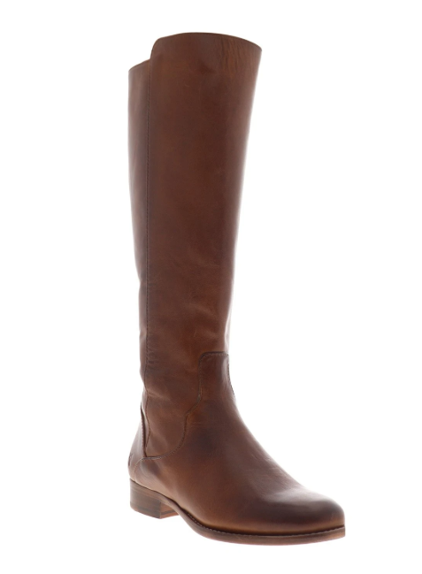 FRYE Carly Shield Knee High Leather Boots Womens Size-6 Brown
