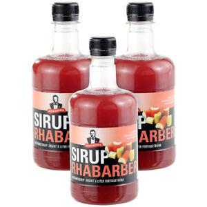 Sirup Royale Mit Rhabarber Geschmack 3x 05 Liter Pet Flaschen Ebay