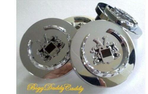 2 5//8 INCHES!!! Cadillac CHROME VOGUE Wreath /& Crest CENTER CAPS!