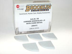 Bien Brooklin Sidewalks, 5 X Corner Sidewalks With Curb Détails, Trottoir Coins, 1/43-afficher Le Titre D'origine 100% De MatéRiaux De Haute Qualité
