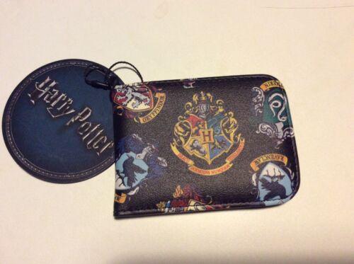 schwarz mit den Wappen von allen Häusern und Hogwarts! HARRY POTTER Kartenetui