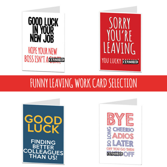Leaving Cards Selection Work The Office Funny Sarcastic Banter Joke Humour