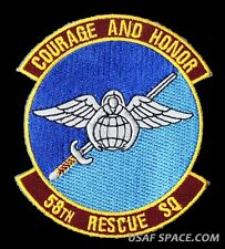 58TH RESCUE SQ. USAF - COURAGE and HONOR - COMBAT RESCUE PJ'S CSAR PATCH