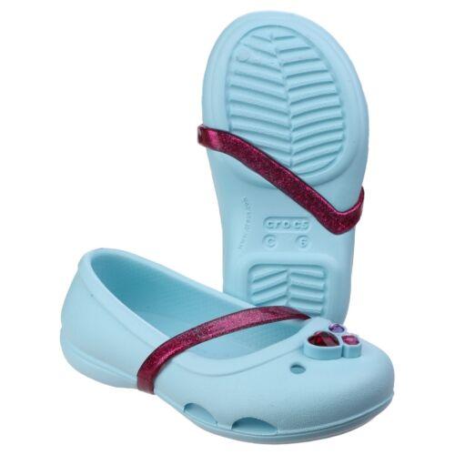 Crocs Lina Flats Summer Beach Croslite Jibbitz Girls Kids Childrens Clogs Shoes