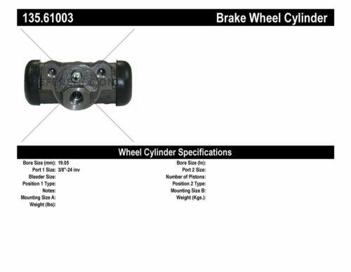 Drum Brake Wheel Cylinder-C-TEK Standard Wheel Cylinder Rear Centric 135.61003