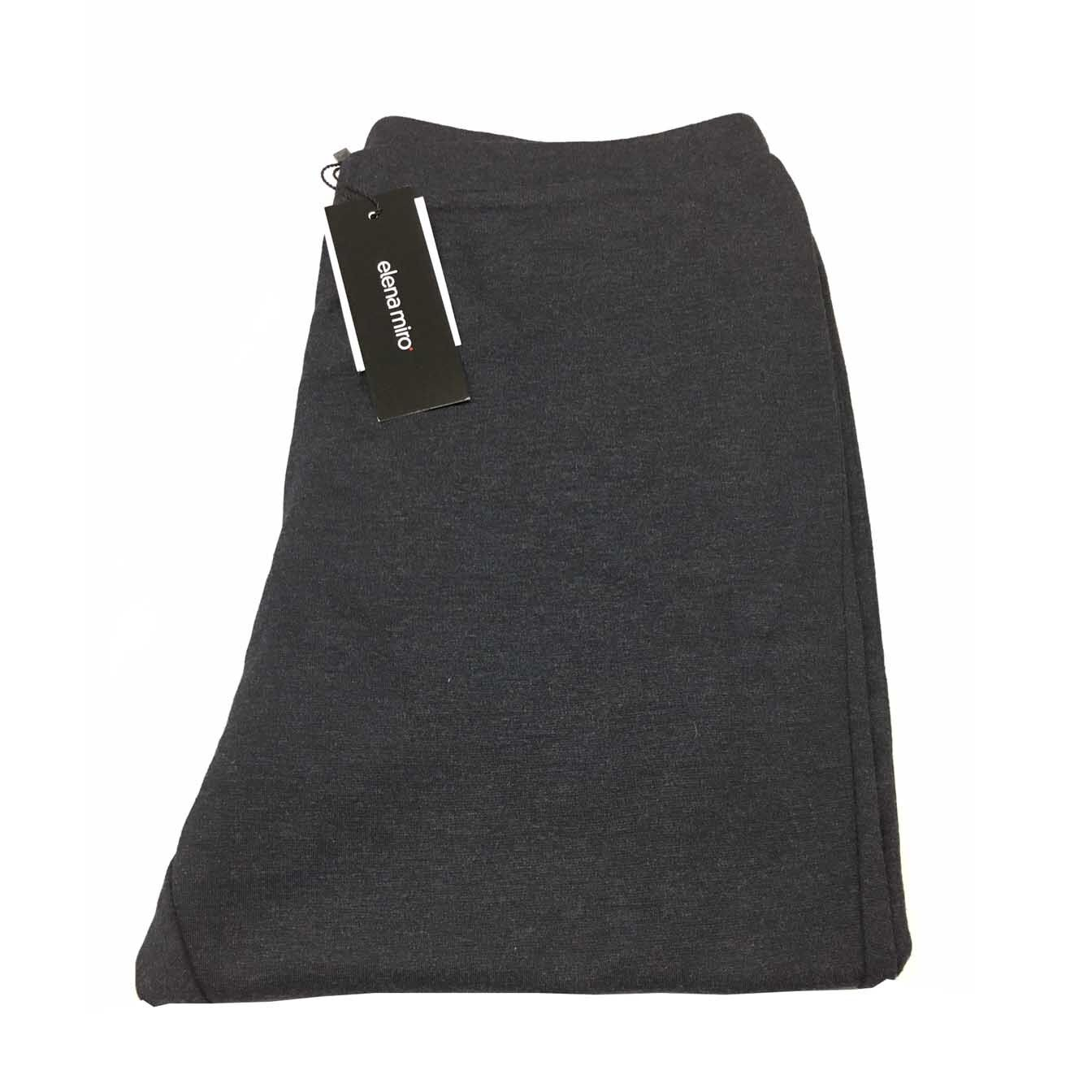 ELENA MIRO' leggins antracite punto stoffa stoffa stoffa con zip finale 83% viscosa 848470