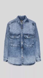 6f81148155b Image is loading New-Zara-Men-Vintage-Denim-Shirt-M