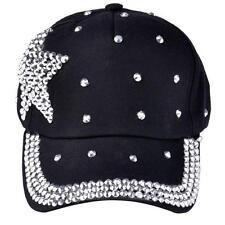 US Fashion Baseball Cap Rhinestone Star Shaped Boy Girls Snapback Hat