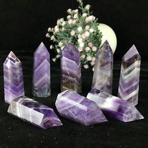 Natural pink rose quartz obelisk crystal WAND point healing care 2.2LB