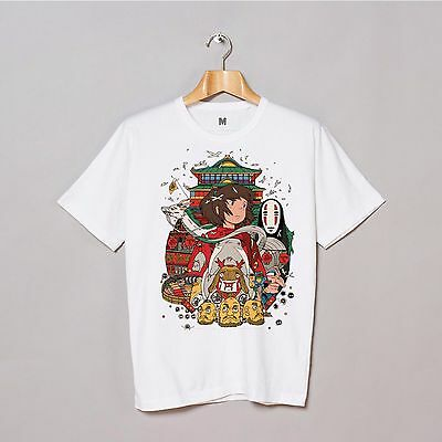 Spirited Away Of Sen And Chihiro 2 Cartoon T shirts Tee Short Sleeve