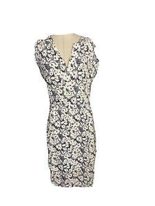 Sportscraft Womens Size 14 A - Line Midi Dress Rolled Sleeves